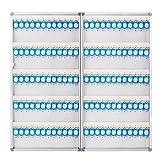 PORTACHIAVI Box di Gestione della Scatola di Gestione della Scatola da Parete 120 Cabinetti Chiave Gestione Gestione Password Password Box Box Box Parete in Lega di Alluminio
