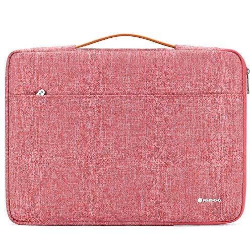 NIDOO Funda para ordenador portátil de 12,5 pulgadas, funda protectora para iPad Pro 2016 2017/13,3 pulgadas, MacBook Air/Pro 2020/13,5 pulgadas, Surface Laptop 2/13,3 pulgadas, Lenovo Yoga S730, rojo