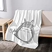 """LYBZS Totoro Throw Blanket Soft Plush Fluffy Warm Cozy Perfect All Seasons for Couch Bed Sofa 50""""x40"""" for Kids"""