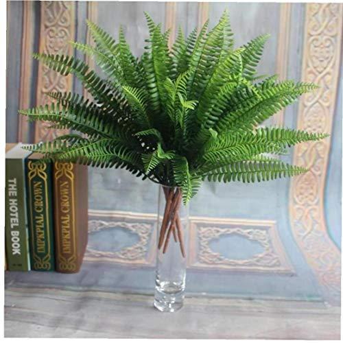 Artificial Boston Farn Blumenstrauß Aus Kunststoff Kunstseide Grünpflanzen Gefälschte Blätter Craft Gefälschte Laub Home Decoration