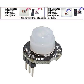 MH-SR602 MINI Sensor Detector de Movimiento Módulo SR602 PIR Kit de interruptor sensorial Soporte para Arduino Diy Con lente: Amazon.es: Bricolaje y herramientas
