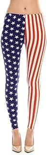 Women's American Flag Ankle Jeggings Leggings Patriotic Pants