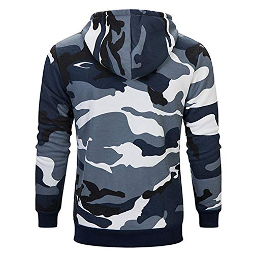 PRJN Men's Sweater Hoodie Men's Clothing Plus Velvet Sweater Casual Plus Size Men's Long Sleeve Hoodies Camouflage in Military Style Casual Outdoor Sports Outfit Hip hop Cool Style Tops