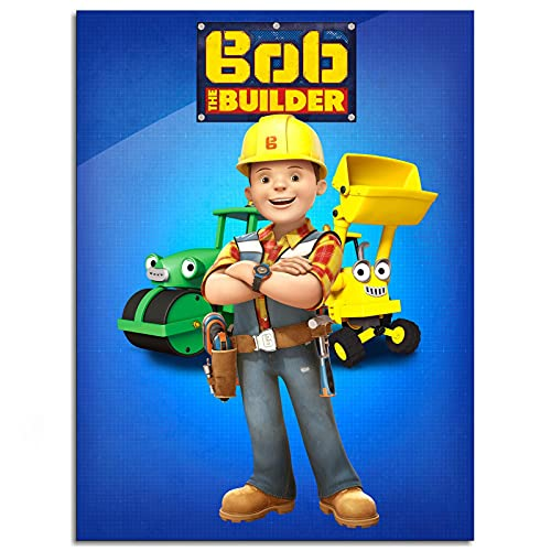 """Bob The Builder Poster Canvas Prints Poster Wall Art For Home Office Decorations Unframed 16""""x12"""""""