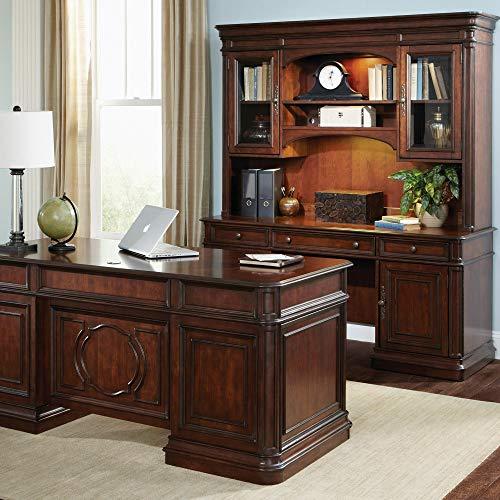 Liberty Furniture Industries Brayton Manor 5 Piece Jr Executive Set, W66 x D24 x H25, Dark Brown