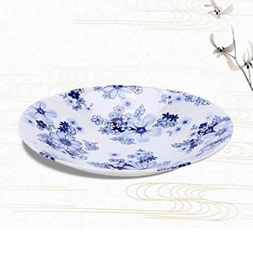 Liuyu Kitchen Home Vaisselle Soup Bowl Face Bowl Large Soupe À Domicile Bassin Bol De Riz Dessert Bowl Céramique (taille : Plate)