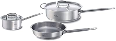 Fissler Stainless Steel 5-Piece Original Profi Cookware Set with Saute and Fry Pan