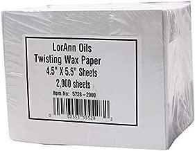 LorAnn Twisting Wax Paper sheets (2000 pack)