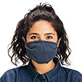 Joshu.org / Over The Head Washable & Reusable Face Mask/Made in The USA/Navy Heather