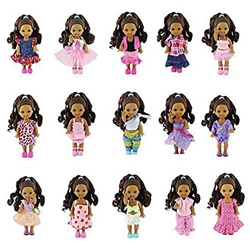 K.T. Fancy Lot 10 Fashion Clothes Dress Outfit for Kelly Dolls Xmas Birthday Gifts