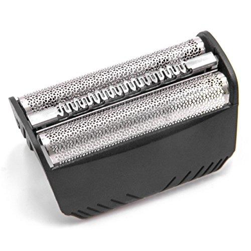 vhbw Doppelscherfolie kompatibel mit Braun 5714, 5715, 5716, 5742, 5743, 5745, 5746, 7475, 7493, 7497 Elektrorasierer - Typ 30B + Rahmen, schwarz