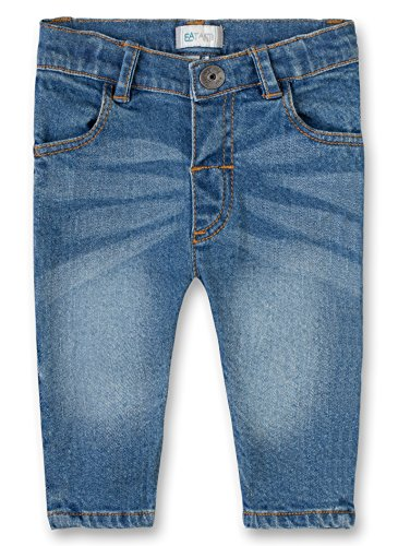 Sanetta Unisex Baby Trousers Denim Jeans, Blau (Blue Moon 9476.0), 86