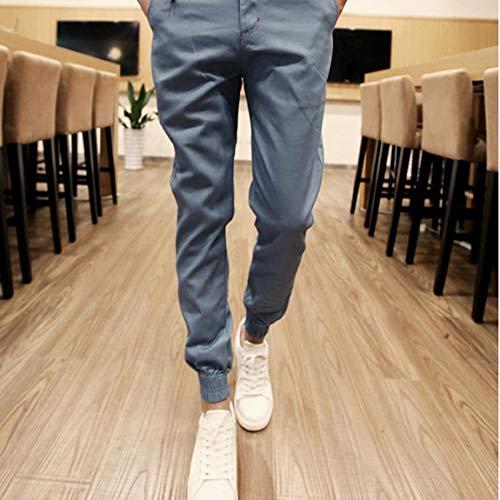 SeniorMar-UK, Pantalones de Hombre de Moda, Cintura elástica, Adelgazante, pies pequeños, Pantalones Largos Informales, Pantalones de Primavera y Verano para Hombre