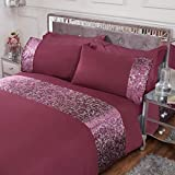 Sleepdown Foil stampato velluto polsino biancheria da letto