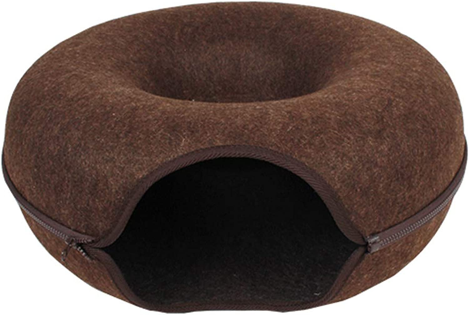C_1X Net Red Cat Litter, Pet Nest, Cat House, Pet Bed, Cat Toy Tunnel, Cat Supplies, Removable Cat Villa House, (Brown) (color   Brown)