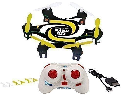 Micro Drone Nano Hex Revell 23947 2,4 GHz 4 Canali Cavo di Ricarica USB Giallo