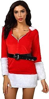 Women's Mrs. Claus Santa Costume Cosplay Christmas Dress Costume