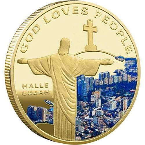 Bontannd Monedas Conmemorativas Religioso De Jesús Plateado De Oro Moneda Conmemorativa Colección De Moneda Moneda De La Suerte Fe Medalla Conmemorativa