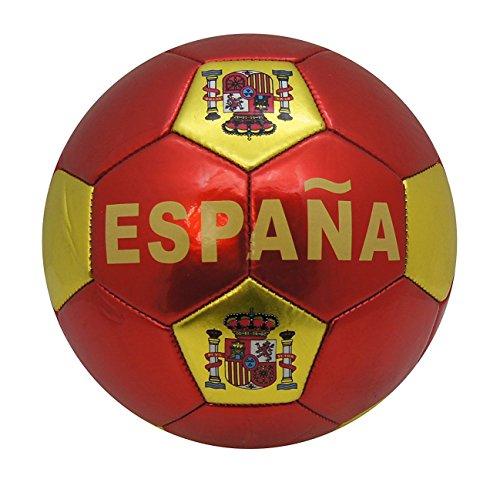 YUDA BALÓN DE Futbol, Talla 5, Pelotas de fútbol, Paneles hexagonales y pentagonales (ESPAÑA Rojo)