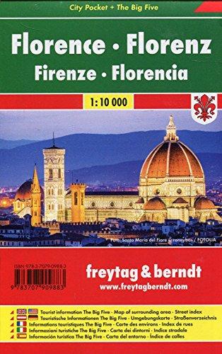 Florenz, Stadtplan 1:10.000, City Pocket + The Big Five (freytag & berndt Stadtpläne)