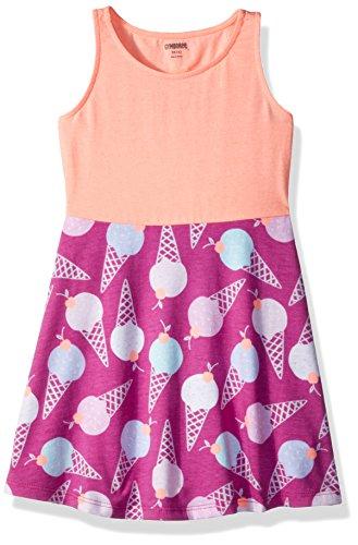 Gymboree Girls' Little Two-Tone Keyhole Back Printed Knit Dress