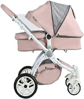 Skip Hop Stroller Organiser, Lightweight Pram Folding Pushchair One Step Design for Opening and Folding Travel System Baby Stroller Buggy Sun Shade, Pink