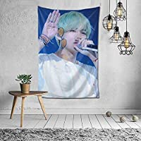 BTS (Bangtan Boys) V Kinsei Tapestry Movie Poster Interior Stylish Wall Hanging Wall Decor Multi-Function Decorative Cloth Fabric Decor Supplies Decorative Art Refurbishment Room Window Curtain Housewarming Celebration 150x100cm