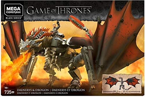 Mega Brands GKG97 Game of Thrones: Daenerys and Drogon Construx, Multi Color