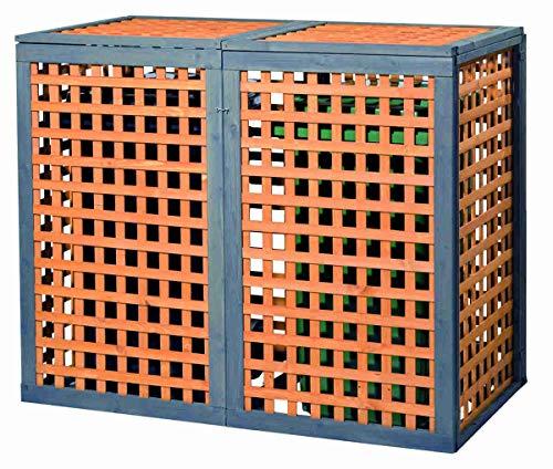 Holz Mülltonnenbox Kaprun für 2 x Mülltonnen 240 Liter erweiterbar - 2