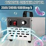 HNBMC 220V / 110V Generador De Ozono, 3.5/30 / 40G Máquina De Ozono Acero Inoxidable Purificador De Aire Limpiador Ozonizador Ionizador Desinfección Esterilizador,3500mg/h