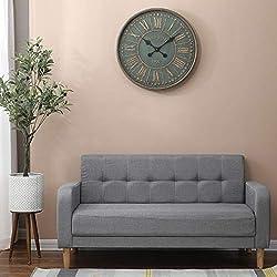 Luxen Home Metal Grand Hotel Wall Clock