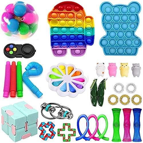 BoBoLily Más nuevo actualización sensorial Fidget juguetes conjunto,escritorio alivio del estrés juguete descompresión ventilación aliviar juguetes Set