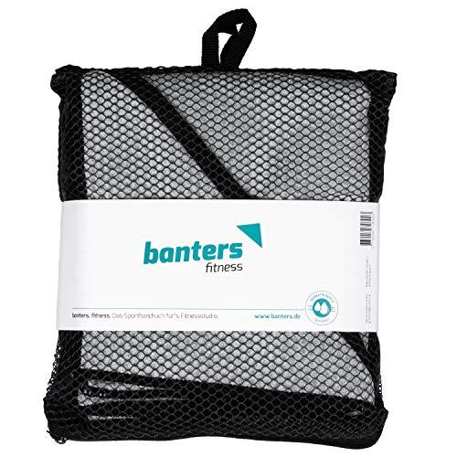 Banters Mikrofaser-Handtuch in grau für Sport und Fitness | Sporthandtuch für Workout und Kraft-Training im Fitnessstudio (mit Geschenkverpackung) - 6