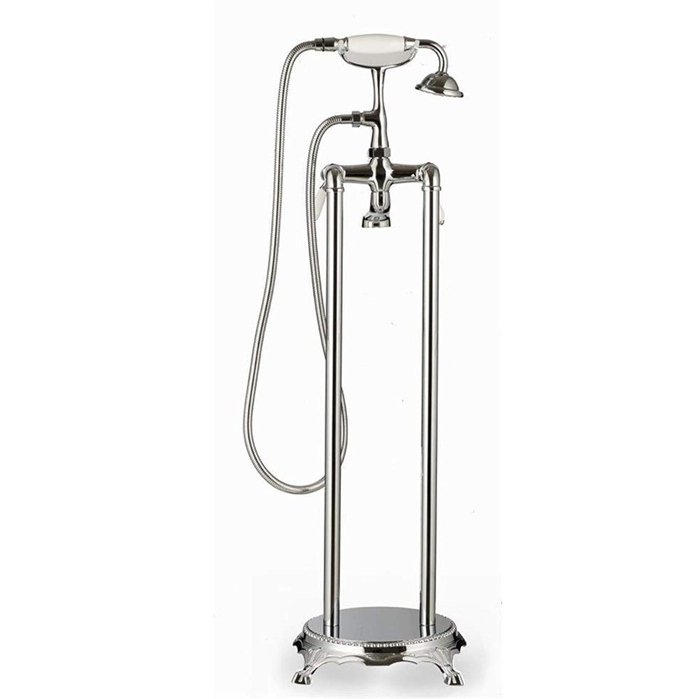 伝染性倫理ペグCHUNSHENN ハンドシャワー床に立って調整可能水温のために風呂シャワーミキサーを、簡単にインストール(バス&シャワーの蛇口のタイプ:バスタブ自立蛇口) バス用品