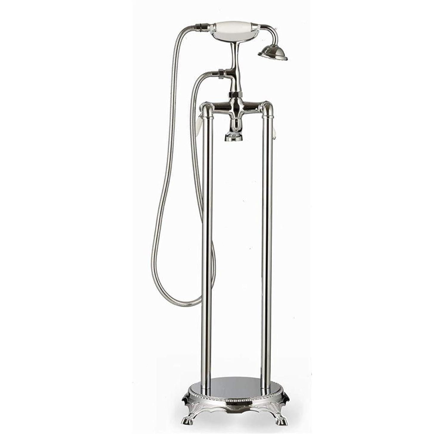 ポインタ指標授業料CHUNSHENN ハンドシャワー床に立って調整可能水温のために風呂シャワーミキサーを、簡単にインストール(バス&シャワーの蛇口のタイプ:バスタブ自立蛇口) バス用品