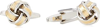 Van Heusen Men'S Gold & Silver Knot Cufflinks, Gold, One Size