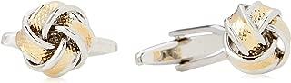 Van Heusen Men'S Gold & Silver Knot Cufflinks, Gold, One Size