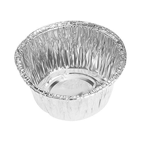 SODIAL moule de tarte Jetable Feuille d'aluminium pour la Cuisson de Cookie Muffin Cupcake tarte moule rond 150pcs