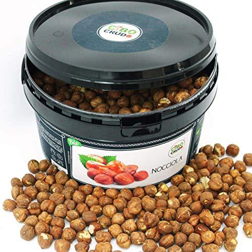 CiboCrudo Nocciole Sgusciate Biologiche Crude, Raw Organic - 1500gr - Prodotto in Italia, Migliore Nocciola al Mondo, Calibro 15, Intere Senza Guscio, Etichette in Italiano