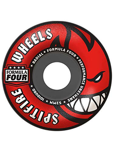 Spitfire Skateboard Wheels Formula 4 101a Radials 54mm Wheels