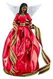African American Christmas Tree Topper: Tiffany in Red
