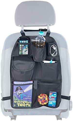 Lescars Auto Organizer: Kfz-Rückenlehnen-Organizer für Spielzeug & Co, für alle Fahrzeuge (Rückenlehnenschutz)