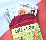 Motxilla amb 9 llibres per aprendre a llegir: En lletra de PAL i lletra lligada: Ordenats en funció de la dificultat lectora! (Plou i Fa Sol)