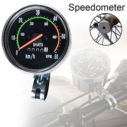 lennonsi Fahrrad Tachometer Mechanisch Analog Kilometerzähler Fahrradcomputer Geeignet Für 26 28 29 27,5 Zoll Fahrrad