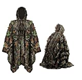 Military Camouflage 3D Leaf Ghillie Suit Training bird watching Hunting Poncho Cloak