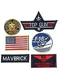 Maverick Pete Mitchell Top Gun Fancy Kleid Eisen auf