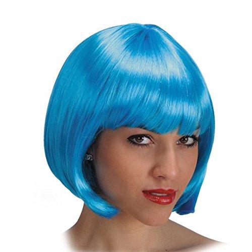 PIN UP perruque avec bandeau de 70 ans de frange turquoise