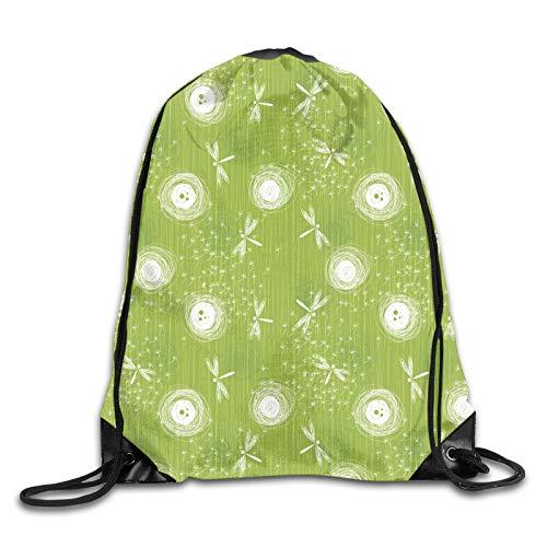 Drawstring Gym Bag Backpack,Sketch Style Dandelion Petals Spring Beauty Nature Elegance Blossom Image,Rucksack for School Sports Travel Women Children Birthday Present