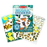 Melissa & Doug Mosaic Sticker Pad Ocean Animals (12 Color Scenes to Complete with 850+ Stickers)