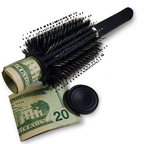 NACHEN Brosse à Cheveux Peigne Diversion Stash Safe Stash Can Massage Peigne Parfait pour la Maison Bijoux Safe Money Safe